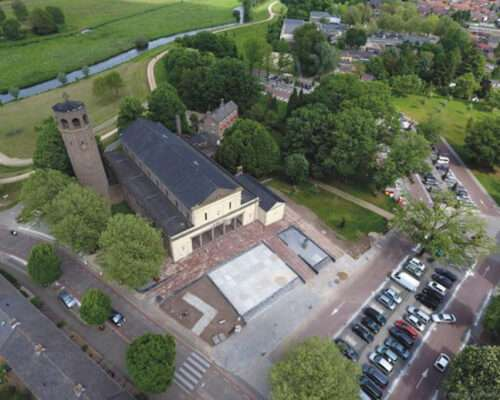 bovenaanzicht Kerk Gennep