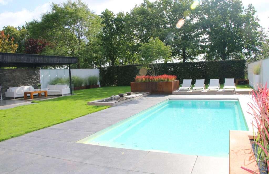 Eindresultaat zwembad tuin Groesbeek