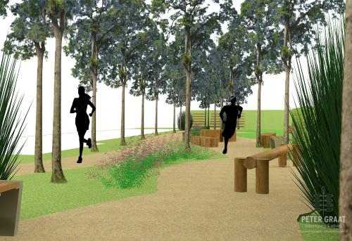 beplanting in beweegpark