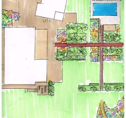 tuinschets ontwerp Oeffelt